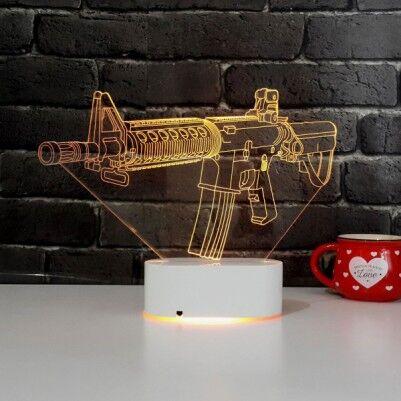 Silah Tasarımlı 3D LED Lamba - Thumbnail