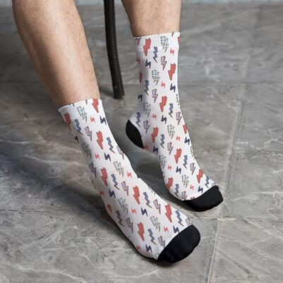 Şimşek Tasarımlı Çorap - Thumbnail