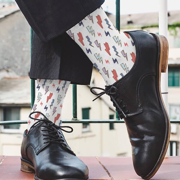 Şimşek Tasarımlı Çorap