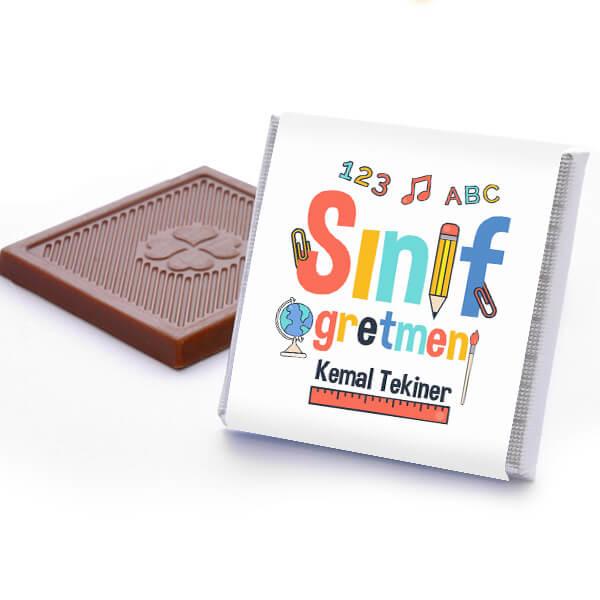Sınıf Öğretmenine Hediye Çikolata Kutusu