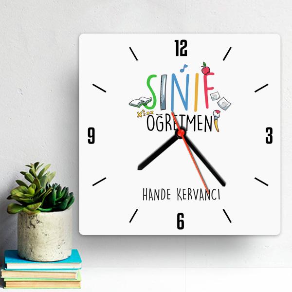 Sınıf Öğretmenine Hediye Duvar Saati