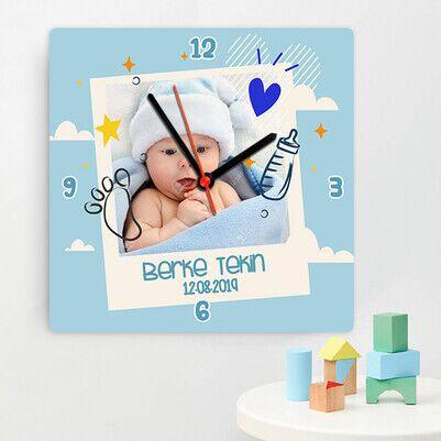 Şipşirin Erkek Bebek Duvar Saati - Thumbnail
