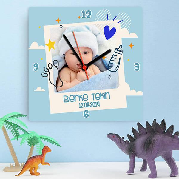 Şipşirin Erkek Bebek Duvar Saati