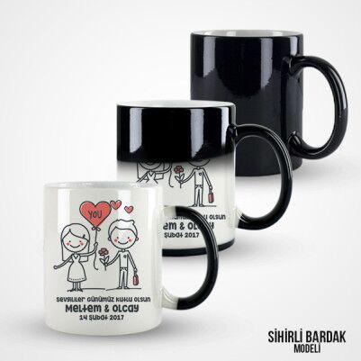 Şipşirin Sevgililer Günü Temalı Kupa Bardak - Thumbnail