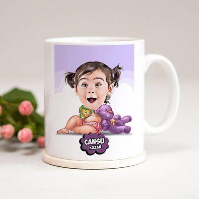 - Şirin Kız Bebek Karikatürlü Kupa Bardak