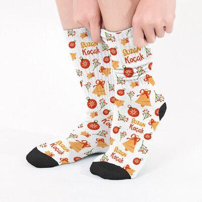 - Şirin Yılbaşı Desenleri İsimli Çorap