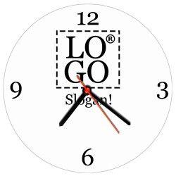 - Şirketlere Özel Logo Baskılı Duvar Saati