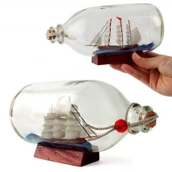 Şişe İçinde Dekoratif Gemi Maketi