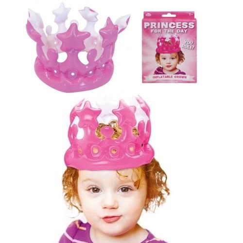 Şişme Prenses Tacı Pembe