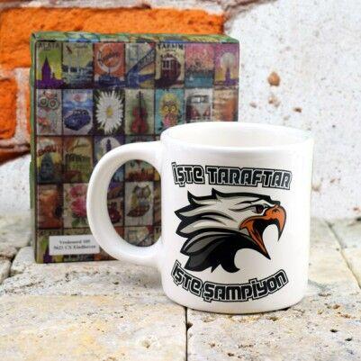 Siyah Beyaz Top İkonlu Kupa Bardak - Thumbnail