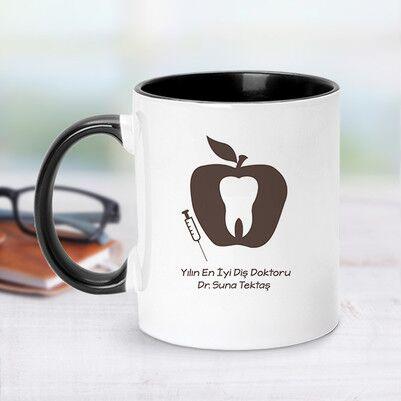 - Siyah Kupa Bardak Diş Doktorlarına Özel