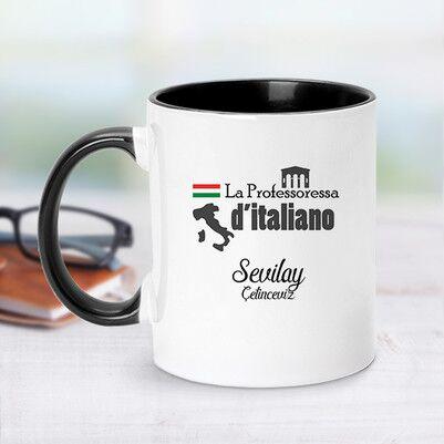 - Siyah Kupa Bardak İtalyanca Öğretmenlerine Özel