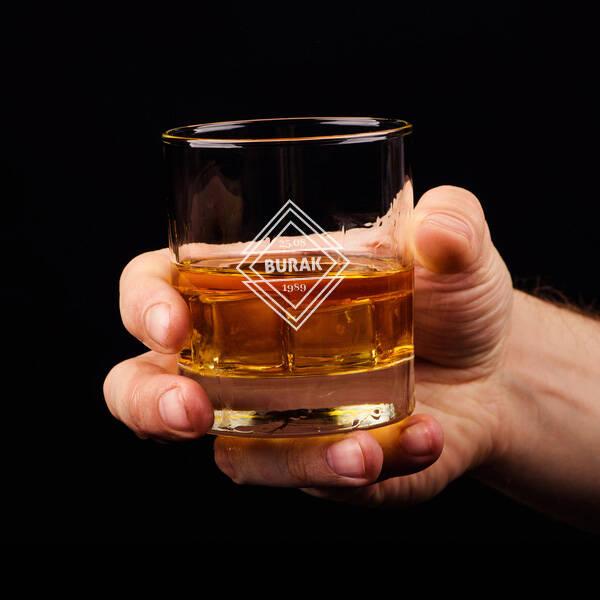 Size Özel İsim ve Tarihli Viski Bardağı