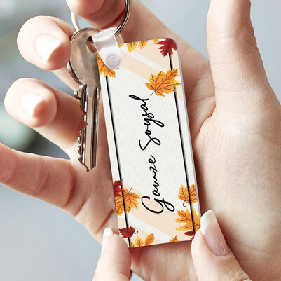 - Sonbahar Tasarımlı İsimli Çubuk Anahtarlık