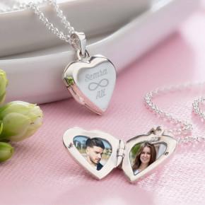 - Sonsuz Aşk Fotoğraf Kalp Kolye