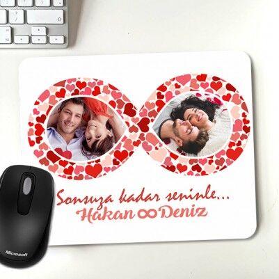 - Sonsuz Aşk Fotoğraflı Sevgili Mousepadi