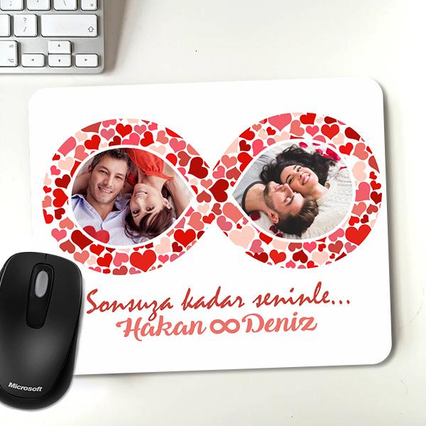 Sonsuz Aşk Fotoğraflı Sevgili Mousepadi