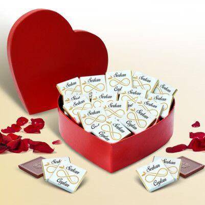 - Sonsuz Aşkım Kalp Kutu Çikolata
