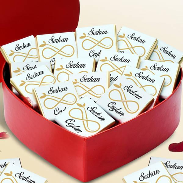 Sonsuz Aşkım Kalp Kutu Çikolata