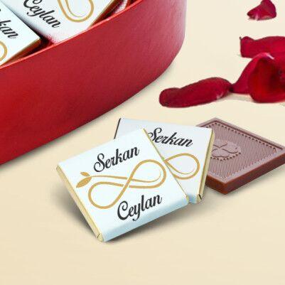 Sonsuz Aşkım Kalp Kutu Çikolata - Thumbnail