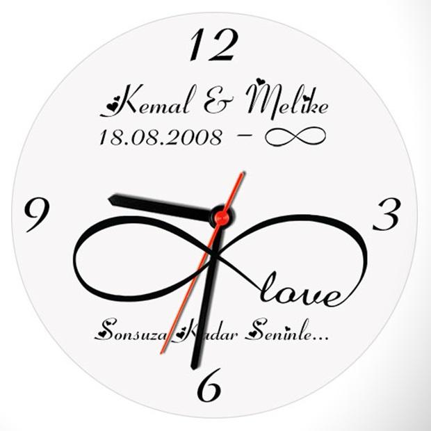 Sonsuz Aşkımız Duvar Saati
