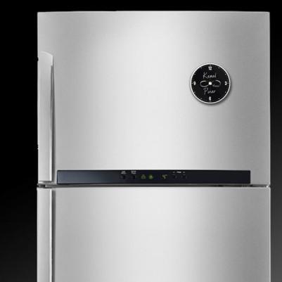 Sonsuz Sevgimiz Saatli Buzdolabı Magneti - Thumbnail