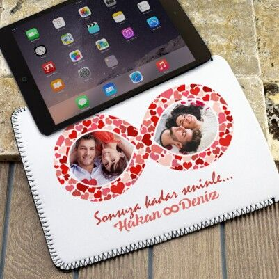 - Sonsuza Dek Aşkla Resimli Tablet Kılıfı