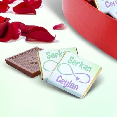 Sonsuza Dek Seninle Kalp Kutuda Çikolatalar - Thumbnail