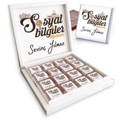 Sosyal Bilgiler Öğretmenine Hediye Çikolata Kutusu - Thumbnail