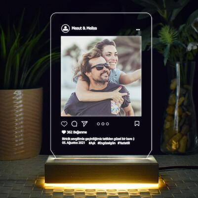 - Sosyal Medya Tasarımlı 3d Led Lamba