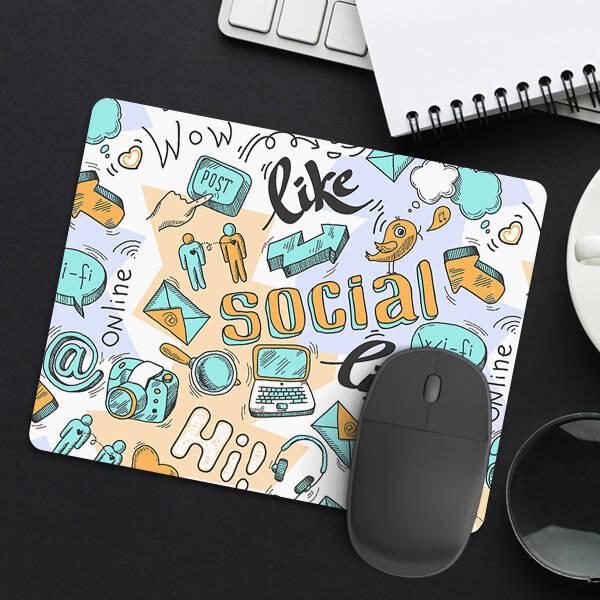 Sosyal Medya Tasarımlı Mousepad