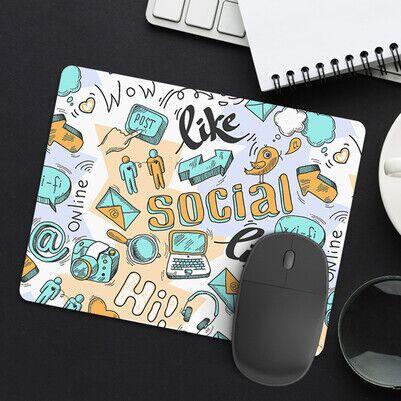 - Sosyal Medya Tasarımlı Mousepad