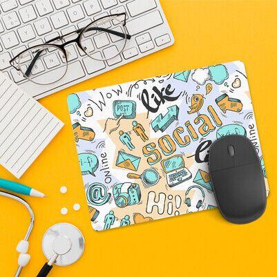 Sosyal Medya Tasarımlı Mousepad - Thumbnail