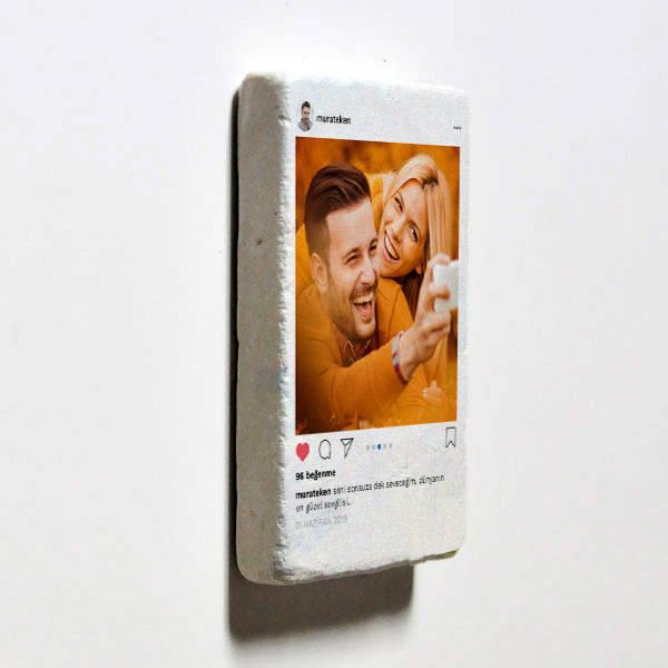 Sosyal Medya Tasarımlı Taş Buzdolabı Magneti