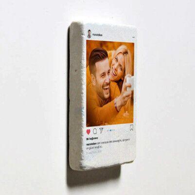 Sosyal Medya Tasarımlı Taş Buzdolabı Magneti - Thumbnail