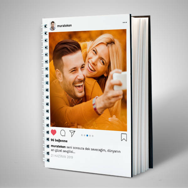 Sosyal Medya Temalı Sevgili Defteri