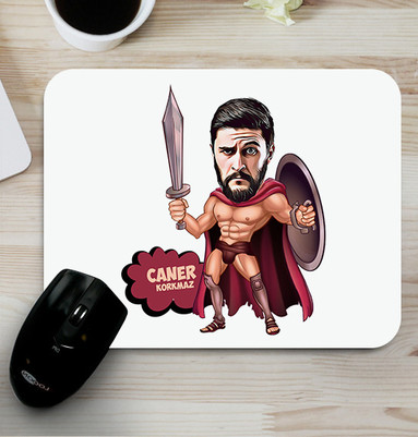 - Spartalı Asker Karikatürlü Mouse Pad
