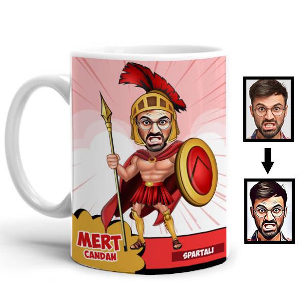 Spartalı Karikatürlü Kupa Bardak