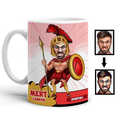 - Spartalı Karikatürlü Kupa Bardak