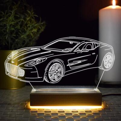 - Spor Araba Tasarımlı 3d Led Lamba