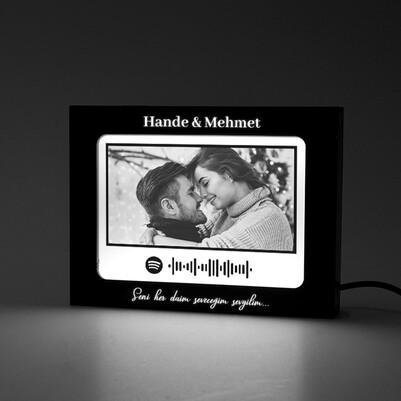 - Spotify Ses Dalgası Led Işıklı Resim Çerçevesi