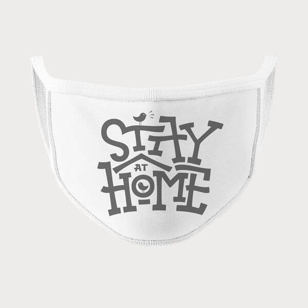 Stay Home Tasarım Yıkanabilir Maske