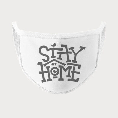 Stay Home Tasarım Yıkanabilir Maske - Thumbnail
