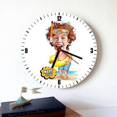 - Su Kuşu Çocuk Karikatürlü Duvar Saati