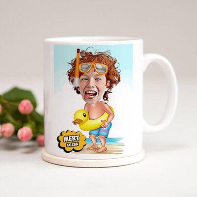 - Su Kuşu Karikatürlü Çocuk Kupa Bardağı