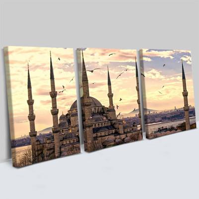 - Sultan Ahmet Camii 3 Parça Kanvas