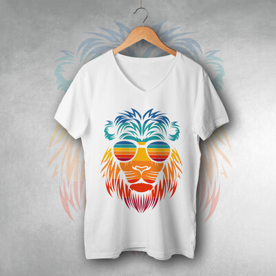 - Summer Lion Tasarım Unisex Tişört