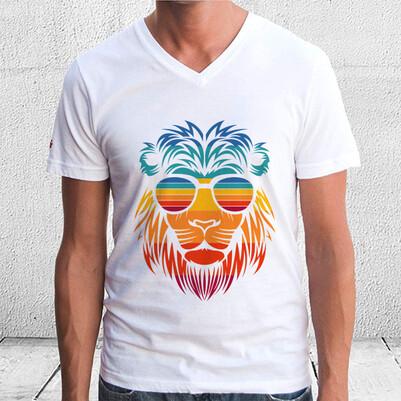 Summer Lion Tasarım Unisex Tişört - Thumbnail