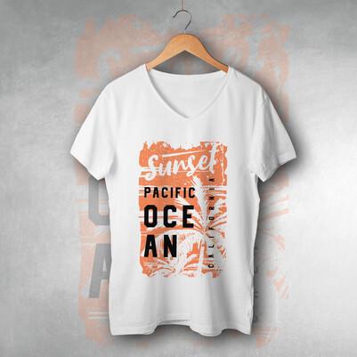 - Sunset Pacific Ocean Unisex Tişört