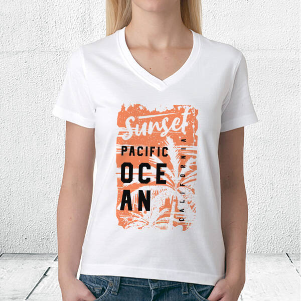 Sunset Pacific Ocean Unisex Tişört